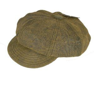 Scala Newsboy Cap 100% Leather - Free Shipping